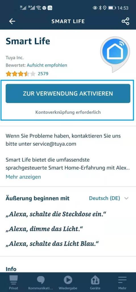 smart life app alexa 3